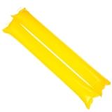 京唐 節慶飾品啦啦棒加油棒 助威道具充氣棒 晚會節日用品黃色80個裝