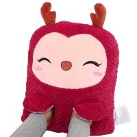 伊暖儿(e·warmer)抱枕型多功能USB暖脚宝 接充电宝卡通电热暖脚鞋暖脚垫暖脚器 可拆洗 鹿小样红