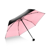 Hommy 五折手开防晒紫外线超轻晴雨伞 轻巧随身折叠伞 樱花粉
