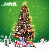 晟旎尚品 圣诞树套餐 圣诞节装饰挂件 加密圣诞树套装彩灯礼物 2.1米豪华套装