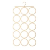 佳佰 衣架 成人晒衣服架 塑料围巾架(可折叠及清洗)) 15圈 米白色 1支装 2H3515