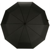 百盛洋伞 10骨全自动雨伞 易甩干商务伞加大皮革手柄折叠创意伞6350 男女通用 黑色
