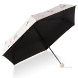 花觉 五折伞防晒防紫外线晴雨伞 四色花 白色