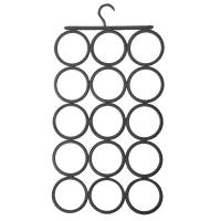 佳佰 衣架 成人晒衣服架 塑料围巾架(可折叠及清洗)) 15圈 深灰色 1支装 2H3515