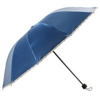 百盛洋伞 折叠双人加大商务伞三折伞 10根加固 遮阳伞 两用晴雨伞 6353 宝兰