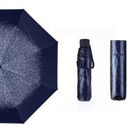 Hommy 三折手开轻巧随身折叠防紫外线男女晴雨伞 蓝色