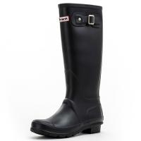 大嘴猴(Paul Frank)雨鞋纯色女士时尚防水胶鞋雨靴套鞋 PF1015 黑色 39
