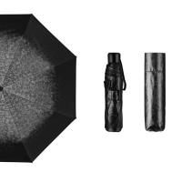 Hommy 三折手开轻巧随身折叠防紫外线男女晴雨伞 黑色