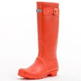 大嘴猴(Paul Frank)雨鞋纯色女士时尚防水胶鞋雨靴套鞋 PF1015 红色 36