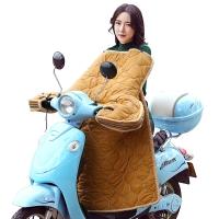集暖挡风被电动车/摩托车防风防水保暖加厚挡风手套夜间荧光反光条一体冬季保暖被黄色