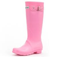 大嘴猴(Paul Frank)雨鞋纯色女士时尚防水胶鞋雨靴套鞋 PF1015 粉色 39