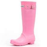 大嘴猴(Paul Frank)雨鞋纯色女士时尚防水胶鞋雨靴套鞋 PF1015 粉色 38
