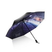 Hommy 三折手開晴雨傘 輕巧隨身折疊傘防紫外線太陽傘女遮陽傘防曬傘 璀璨星空