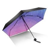 iRain Umbnella 防晒口袋伞超轻伞折叠防紫外线伞晴雨伞太阳伞五折伞遮阳伞 渐变星辰
