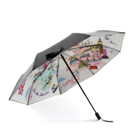 奈洛(NIELLO)新款双层太阳伞女遮阳防紫外线加大折叠 晴雨伞防晒小黑伞 N8347