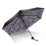 iRain Umbnella 防晒口袋伞超轻伞折叠防紫外线伞晴雨伞太阳伞五折伞遮阳伞 黑色幽默