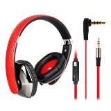 硕美科(SOMIC) M4 城市系列 头戴式电脑音乐耳机 带话筒手机耳机 适用于ipad/笔记本/MP4等  魅力红