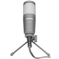得胜(TAKSTAR)GL-100FX旁述式录音电容麦克风 电台直播录播专业USB话筒黑色