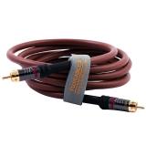 弗吉凯柏(cabos) 同轴音频线 RCA莲花线 发烧同轴线 数字低音炮线 1.5米 咖啡色 F0340105