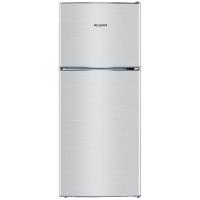 美菱(MELING)118升双门冰箱 小身材不占空间  两门冷藏冷冻 省电静音 亚光银  BCD-118