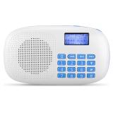 朗琴(ROYQUEEN)X360 插卡收音機老人隨身聽 便攜式mp3播放器 迷你小音箱 手電功能 溫莎白