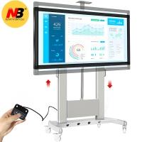 NB TW100(60-100英寸)遥控电动升降支架液晶显示器触摸一体机推车视频会议教学电子白板电视支架落地挂架