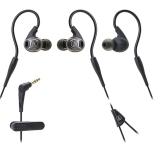 铁三角(Audio-technica)ATH-SPORT3 入耳运动耳机 黑色