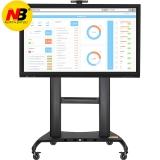 NB AVT1800-100-1P(60-100英寸)液晶移动电视推车落地教学视频会议电子白板支架挂架显示器触摸一体机支架 黑色