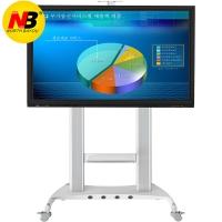 NB AVT1800-100-1P(60-100英寸)液晶移动电视推车落地教学视频会议电子白板支架挂架显示器触摸一体机支架 白色