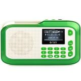 不见不散(See me here) LV390 插卡收音机老人随身听 老年便携式mp3播放器迷你小音箱  水晶绿