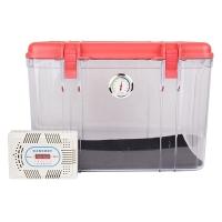 锐玛(EIRMAI) R20 单反相机防潮箱 镜头收纳箱 相机干燥箱 大号,送大号吸湿卡 炫红色