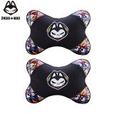 拽貓(ZhuaiMao) 汽車頭枕 頸枕 卡通護頸枕 車用骨頭枕 彩格款一對