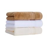 佳佰 純棉毛巾加厚130克A類新疆長絨棉毛全棉面巾 手巾3條裝 白色/米色/咖啡色(34*76cm/條*3)