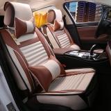 布雷什(BOLISH)超纖皮汽車坐墊 涼墊汽車座墊汽車坐墊夏季 五座四季通用 豪華款 卡宴黃