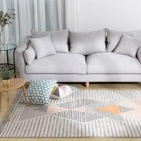 佳佰 现代简约条纹几何地毯北欧风格客厅地毯床前毯 恬静几何-JB-M-06 140CM*200CM