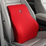 吉吉(GiGi)汽车腰靠 G-1110太空记忆棉靠枕 背靠垫 车用办公用护腰枕红色