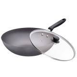 蘇泊爾家用傳統鐵炒鍋生鐵鍋鑄鐵鍋燃氣煤氣電磁爐通用FC30E
