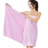 竹之錦 毛巾家紡 竹纖維純色柔軟吸水生態至簡大浴巾 粉色 360g/條 70×140cm
