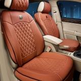 五福金牛 3D立体皮革汽车坐垫 通用座垫 汽车座套 时尚棕色