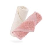 佳佰 纯棉毛巾两条装埃及长绒棉面巾全棉加厚吸水速干礼盒 粉色/米色(34*78cm/160克/条*2)
