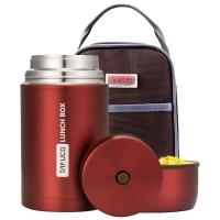 泰福高(TAFUCO)焖烧壶 304不锈钢焖烧杯学生保温焖烧罐保温粥桶 赠保温包 T-2020 雅红色 1.0L