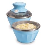 美国·汉美驰(Hamilton Beach)68550-CN 冰淇淋机(蓝色双碗)家用软冰激凌机