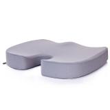 汉妮威 记忆棉 慢回弹坐垫 椅子垫 加厚透气网布垫 飘?#30116;?#22443; 8C1081604 灰色