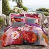 LUOLAI罗莱家纺出品床品套件 纯棉缎纹四件套 W-DY1808C-4 1.5m床200*230