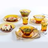 DURALEX/多莱斯 餐具套装碗碟套装 微波炉适用西餐餐具法国进口 10件套双人琥珀色