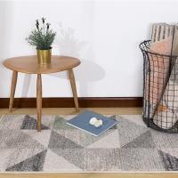 佳佰 北欧时尚简约几何三角拼接茶几地毯客厅地毯床前毯 黛色魔方 JB-M-03-01  60CM*110CM