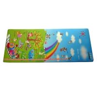 立地美(LIDIMEI)婴儿爬爬垫 PVC发泡彩喷 纵向图案 61*173cm