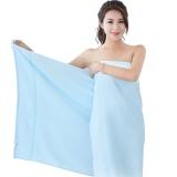 竹之錦 毛巾家紡 竹纖維純色柔軟吸水生態至簡大浴巾 藍色 360g/條 70×140cm