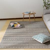 佳佰 现代北欧时尚条纹客厅茶几地毯 卧室床前毯 雅士?#26885;?JB-M-04 160CM*230CM