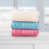 梦洁家纺出品 MAISON 毛巾 土耳其进口面巾 加厚吸水大毛巾三条装 曼城故事 白蓝红 30*78cm